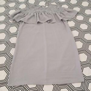 H&M Light Gray Shift Dress